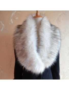 1pc-womens-winter-warm-soft-cozy-fashion-faux-fur-collar-scarf-shawl-wrap-stole by unbranded