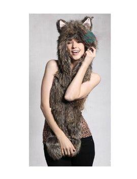 winter-plush-animal--hat-cap-fox--paw-mitten-earmuff-soft-warm-scarf-and-gloves by hao-bo