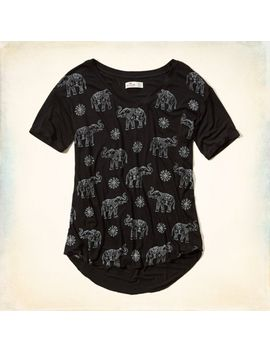 elephant-graphic-t-shirt by hollister