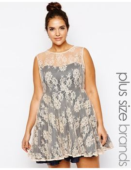 ax-paris-plus-size-lace-skater-dress-with-sweetheart-neckline by asos-brand