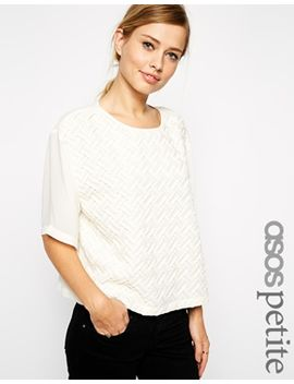 asos-petite-top-with-textured-seam-detail by asos-petite