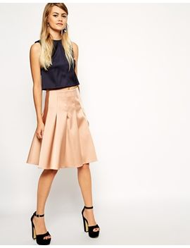 asos-premium-pleated-skirt-in-satin by asos-collection