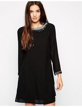 sisley-sixties-dress-with-embellishment by sisley