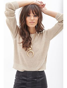 metallic-knit-sweater by forever-21