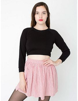 seersucker-full-woven-skirt by american-apparel