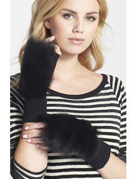 mindy-merino-wool-&-genuine-shearling-fingerless-mittens by rag-&-bone