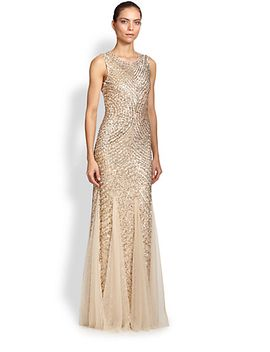 sequined-godet-gown by aidan-mattox