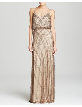 gown---sleeveless-crisscross-back-beaded-blouson by adrianna-papell