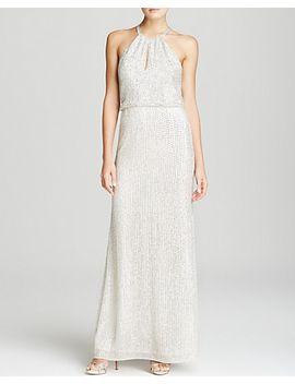 gown---lita-keyhole-blouson by parker-black