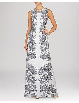 gown---chloey-embellished-neck-print by bcbgmaxazria