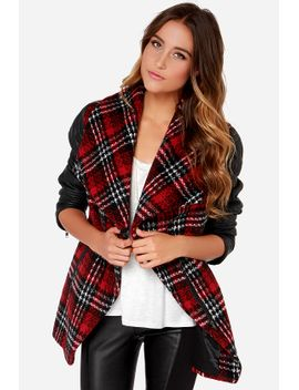 crisscross-reference-red-plaid-vegan-leather-coat by rd-style