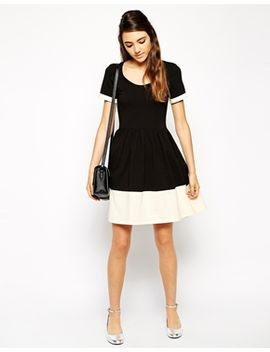 asos-contrast-skater-dress by asos-collection