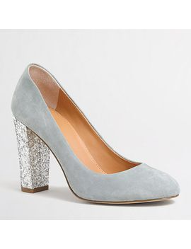 factory-olive-glitter-pumps by jcrew