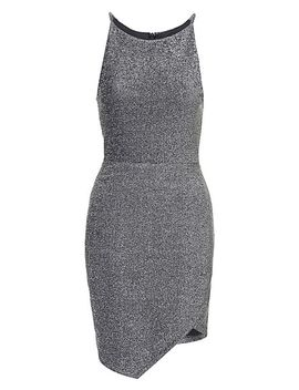 bonded-metallic-wrap-dress by topshop