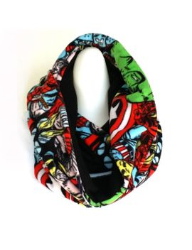 marvel-super-hero-fleece-scarf-circle-infinity-scarf-winter-scarf by unpluggedstudio