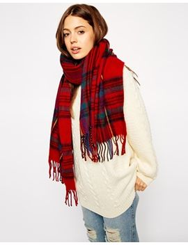 asos-plaid--check-scarf by asos-collection