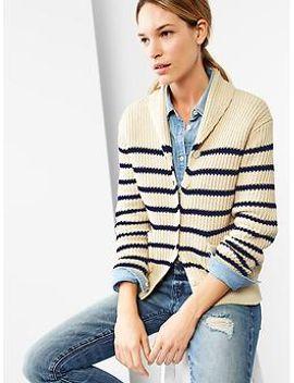 stripe-chunky-shawl-cardigan by gap