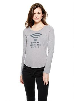 home-is-where-the-wifi-is-long-sleeve-top by delias