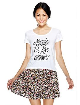 music-is-the-answer-short-sleeve-tee by delias