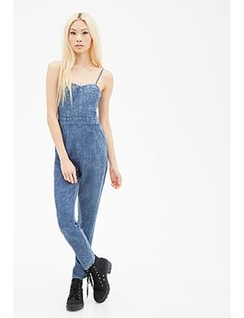 cutout-back-denim-jumpsuit by forever-21