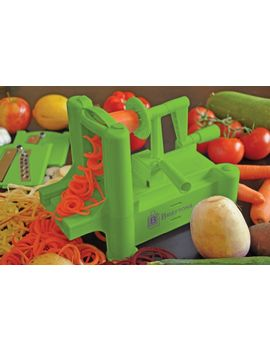 brieftons-tri-blade-spiralizer:-strongest-and-heaviest-duty-vegetable-spiral-slicer,-best-veggie-pasta-spaghetti-maker-for-low-carb_paleo_gluten-free-meals,-with-3-exclusive-recipe-ebooks---green by brieftons