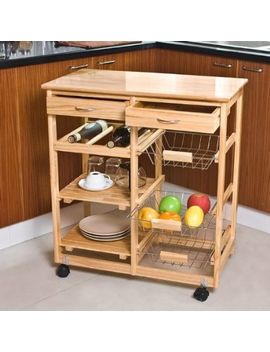 haotian-wooden-kitchen-storage-cart-with-shelves-&-drawers,hostess-trolley,kitchen-storage-rack-fkw04-n,-natural,67cm(264in)x-37cm(145in)x-75cm(295in) by haotian