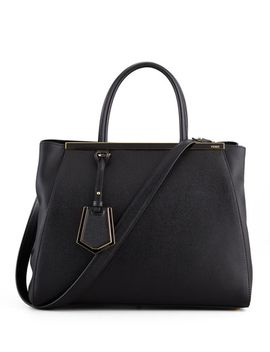 2jours-vitello-elitel-shopping-bag,-black by fendi