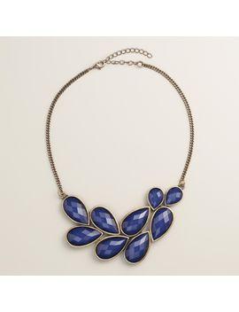 blue-bead-bib-statement-necklace by world-market