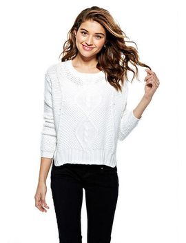 cable-front-pullover by delias