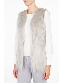 Grey Fur Play Vest by Unreal Fur