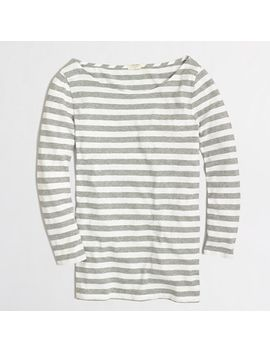 factory-three-quarter-sleeve-stripe-tee by jcrew