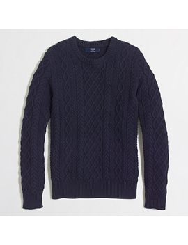 fisherman-cable-crewneck-sweater by jcrew