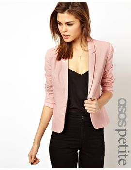 asos-petite-linen-tailored-blazer by asos-petite