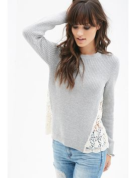 lace-paneled-sweater by forever-21