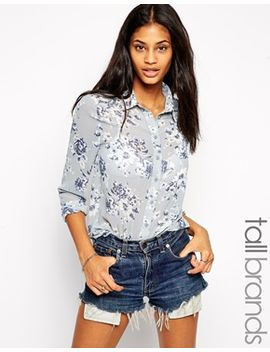 new-look-tall-floral-print-layer-front-shirt by new-look-tall