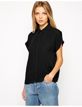 asos-crinkle-grown-on-sleeve-blouse by asos-collection