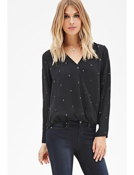 sequin-cluster-surplice-top by forever-21