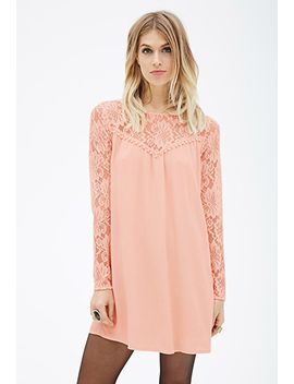 lace-yoke-shift-dress by forever-21