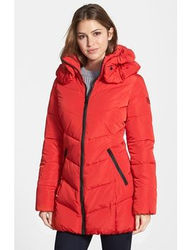 quilted-coat-with-detachable-collar by calvin-klein