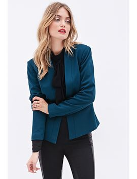collarless-woven-blazer by forever-21