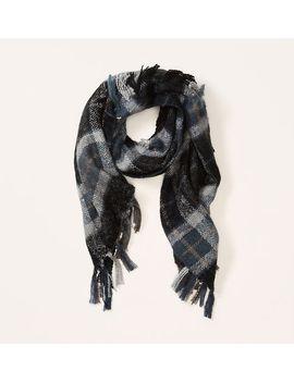 plaid-fringe-scarf by loft