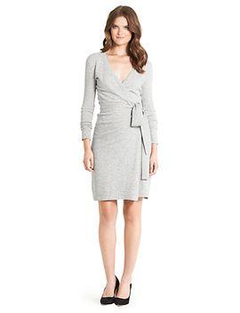 linda-wool-wrap-dress by dvf
