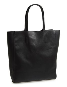 structured-faux-leather-tote by street-level