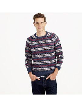 lambswool-fair-isle-sweater by jcrew