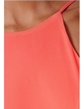 pascaline-coral-high-neck-strappy-maxi-dress by missguided