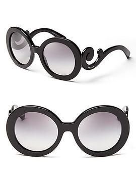round-baroque-sunglasses,-55mm by prada