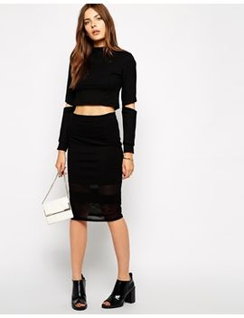 lavish-alice-sheer-pencil-skirt by lavish-alice