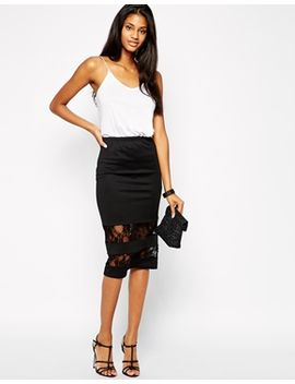 club-l-pencil-skirt-with-lace-inserts by skirt