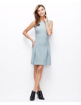 boiled-wool-drop-waist-dress by ann-taylor