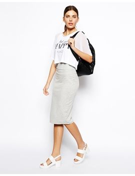 asos-column-pencil-skirt-in-sweat by asos-collection